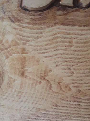 Stained maple wood