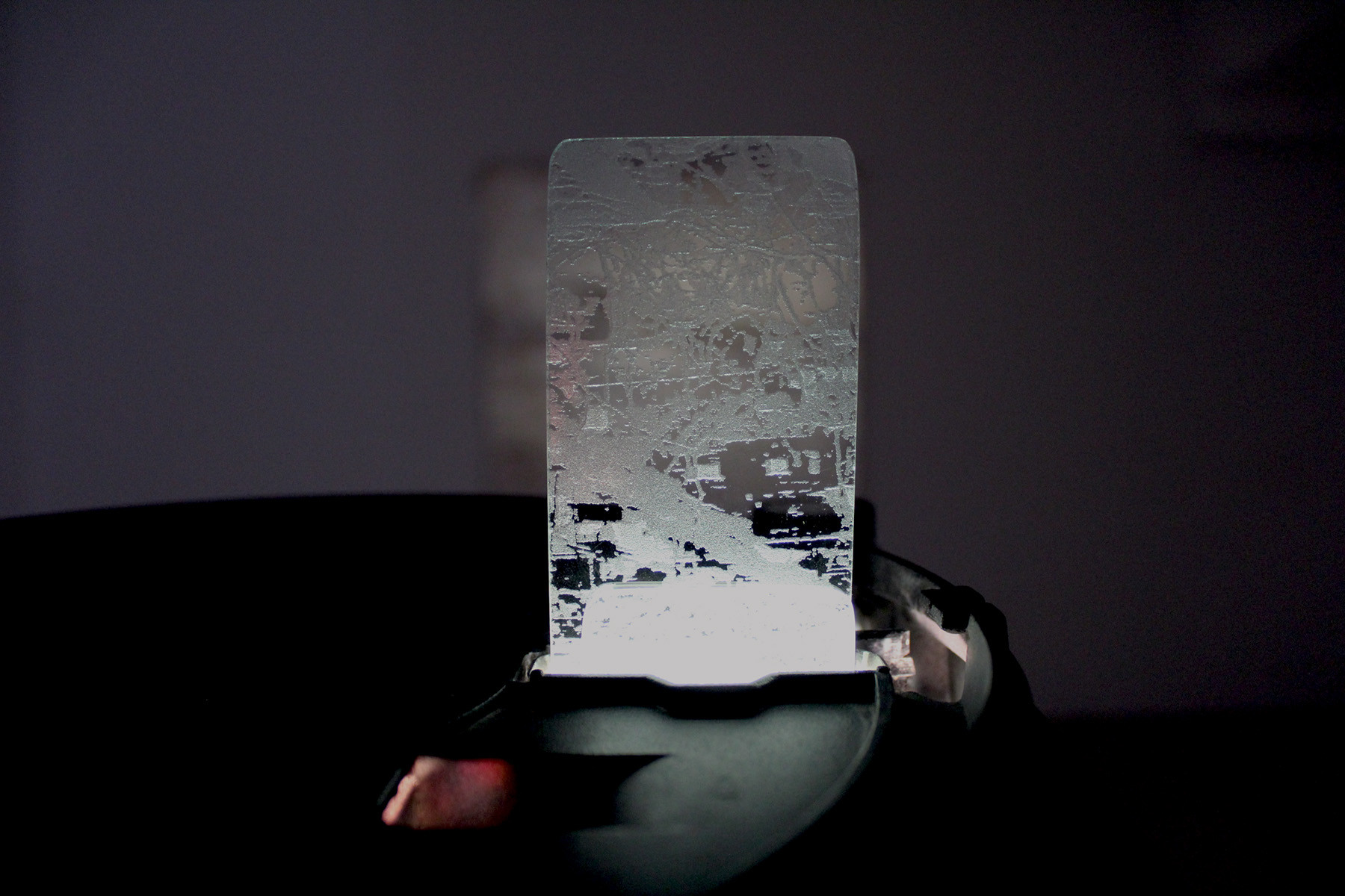 Laser etched slide detail