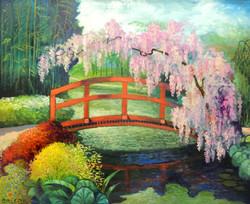 Японский мостик в саду Клода Моне
