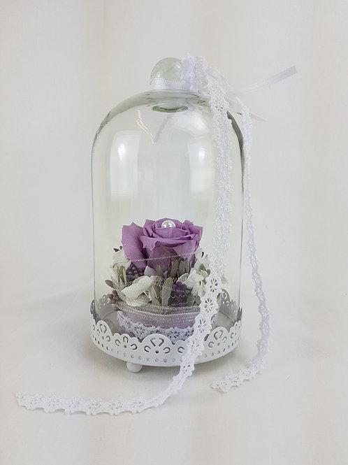 Rose im Glas.