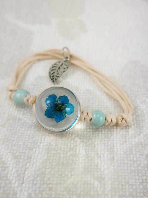 Armband blaue Blüte
