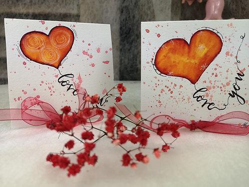 """Valentinskarte"""" love you"""""""