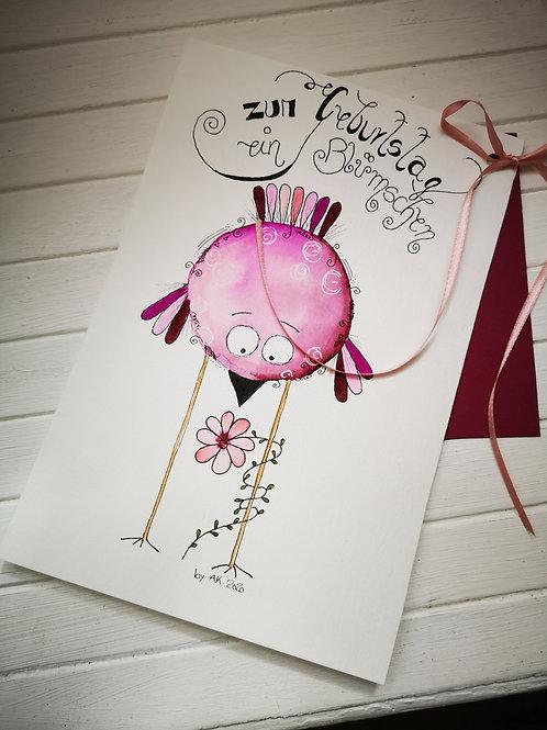 """Geburtstagskarte Happy Painting """"Geburtstag"""""""