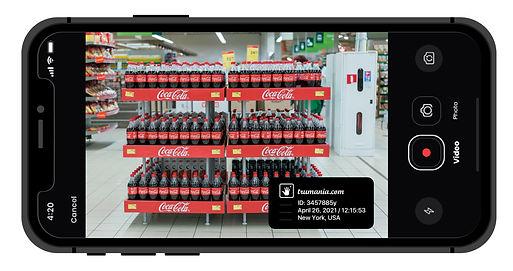 Merchandiser Trumania app - proof of btl