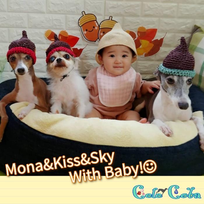 Monaさん&Kissさん&Skyさん with Baby