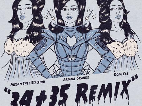 "Ariana Grande Recruits Doja Cat and Megan Thee Stallion For ""34+35"" Remix."