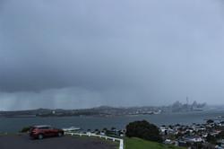 Storm over Auckland
