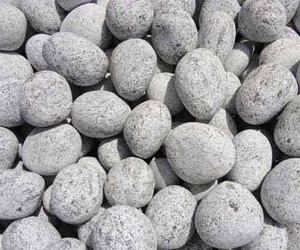 SILVER GREY MARBLE TUMBLED