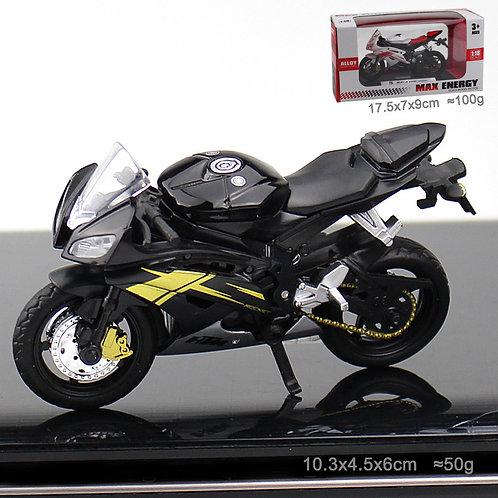 Black Motorcycle (Silver Pipe)