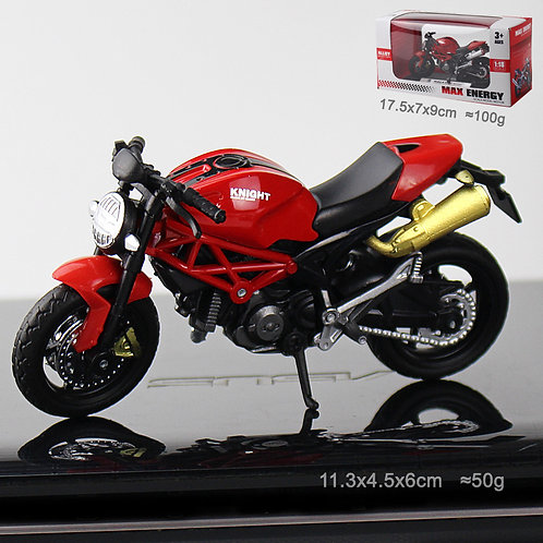 Red Motorcycle (Gold Pipe)