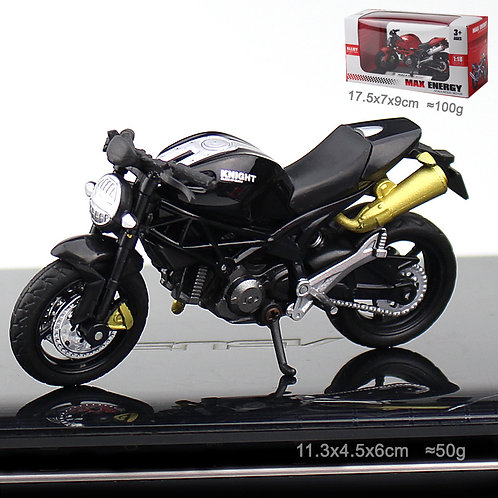 Black Motorcycle (Gold Pipe)