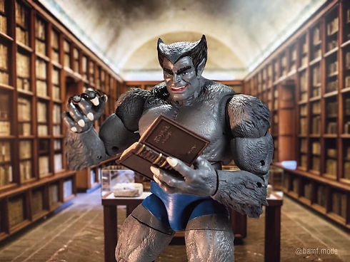 X-Men Beast in library - photo by @bamf.mode