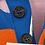 Thumbnail: VIVIENNE WESTWOOD POLO BLUETTE ORANGE PINK STRIPE COLOUR BLOCK