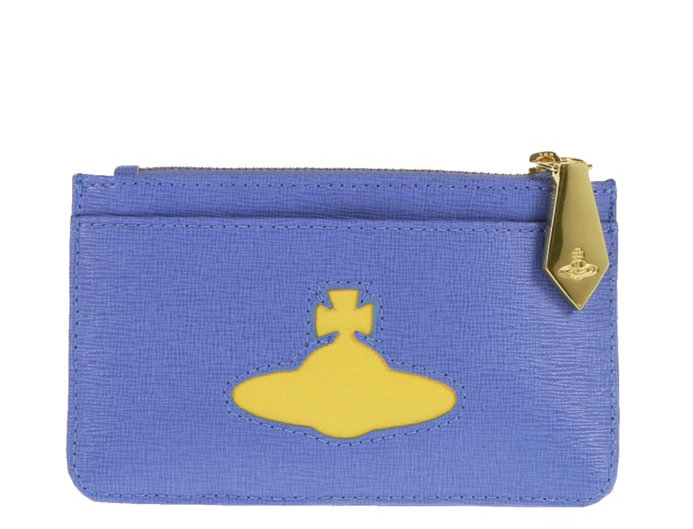 VIVIENNE WESTWOOD CARD HOLDER WITH YELLOW ORB