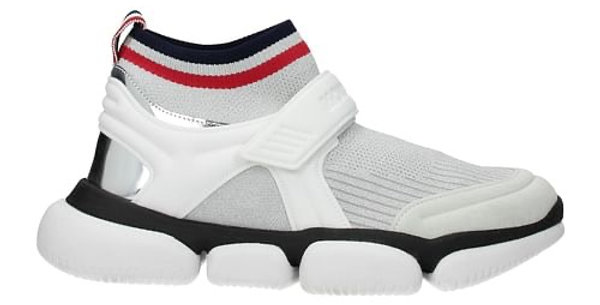 MONCLER WHITE AND BLACK BAKTHA SOCKTRAINERS