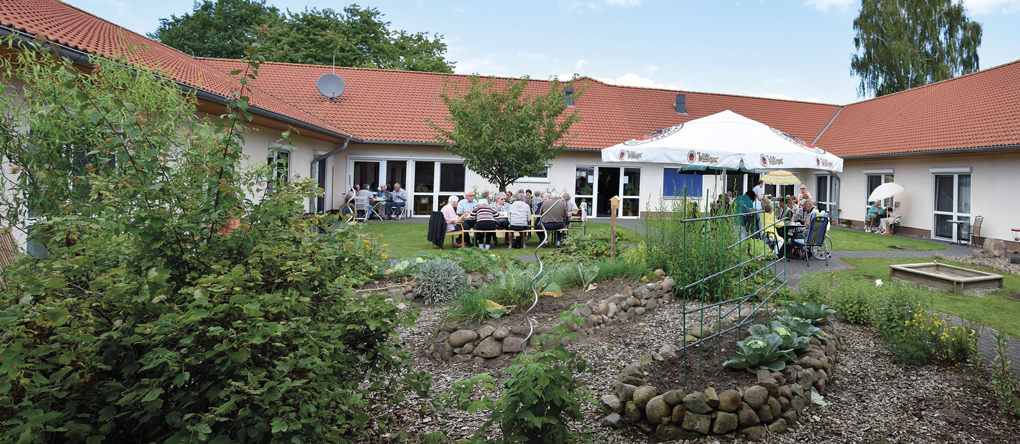 Panorama des Innenhofs