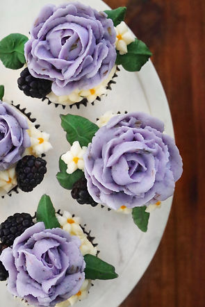 Blackberry and Thyme Cupcakes with Laven