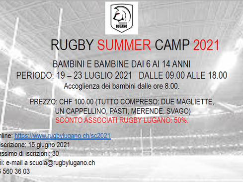 Rugby Summer Camp 2021