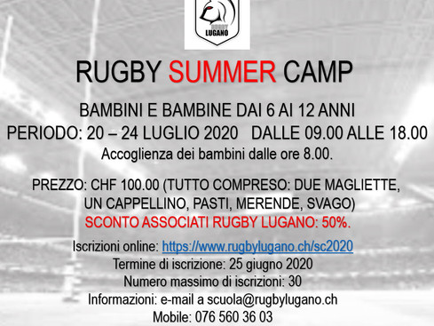 Rugby Summer Camp 2020