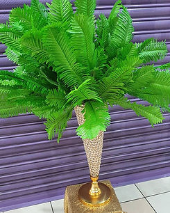 Foliage centerpieces available for hire