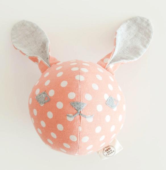 Bunny Rattle Ball, Polka Dots