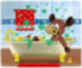 Colourful bath bombs in Ronaldo: The Reindeer Flying Academy children's fiction book