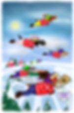 The Endurance Challenge, freezing temperatures in Ronaldo: The Reindeer Flying Academy children's adventure book