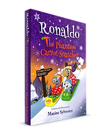 The Phantom Carrot Snatcher book cover for Ronaldo the Flying Reindeer series of Kids books