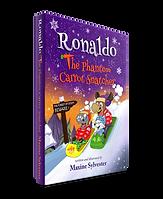 The Phantom Carrot Snatcher book cover for Ronaldo the Flying Reindeer series of Kids books
