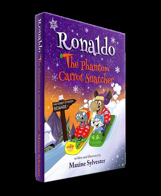 Children's story book cover of Ronaldo: The Phantom Carrot Snatcher