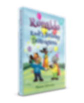 Children's book cover, Ronaldo: Rudi's Birthday Extravaganza, with Flying, Magic and Friendship