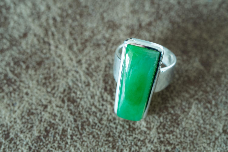 bague argent jade