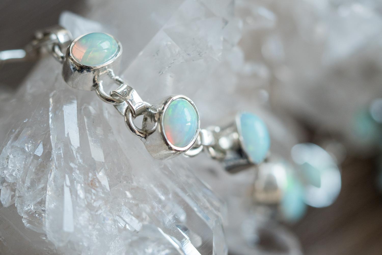 bracelet argent opale ethiopienne