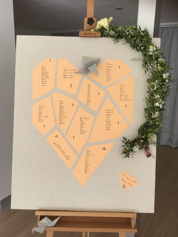 guirlande florale plan de table