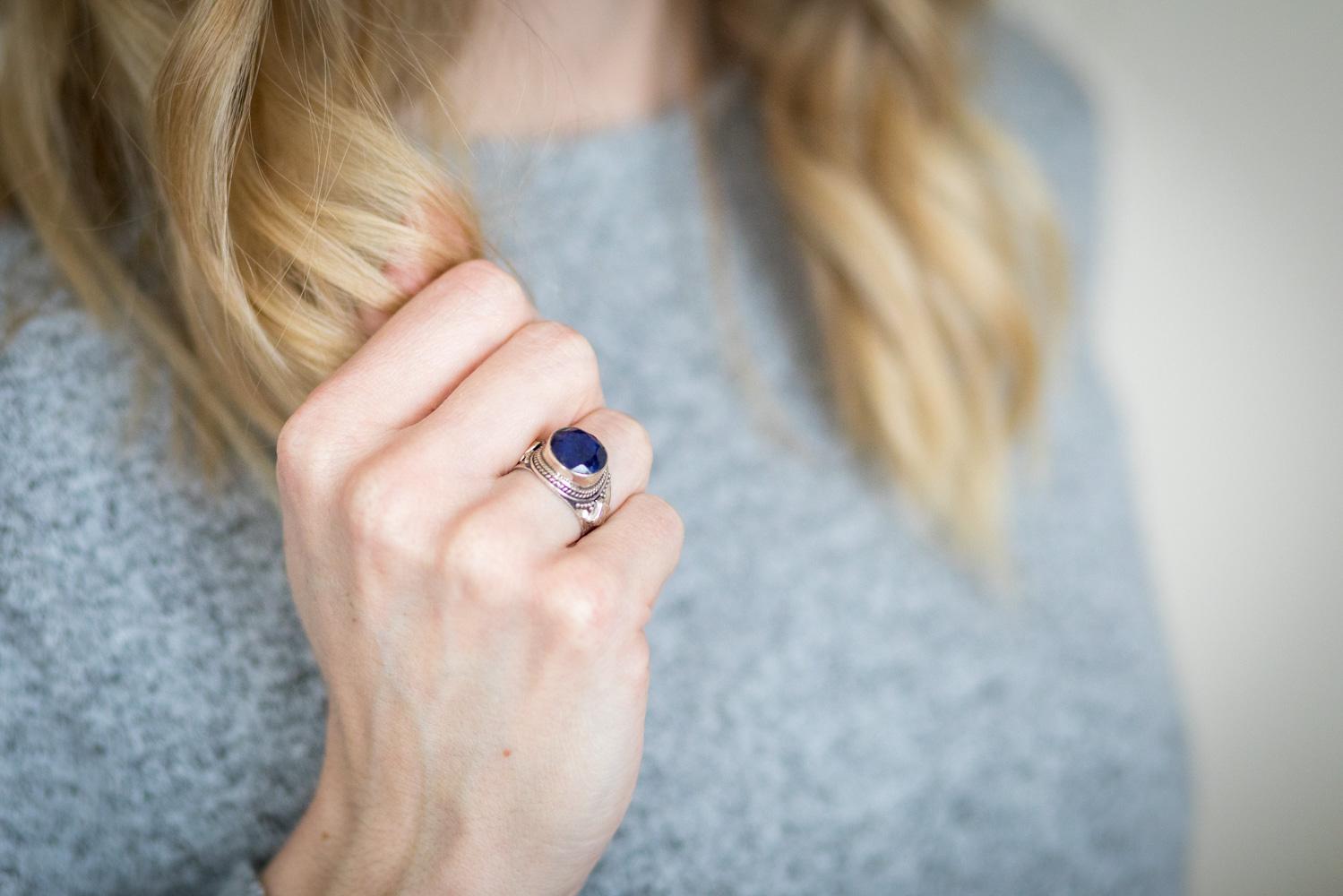argent lapis lazuli