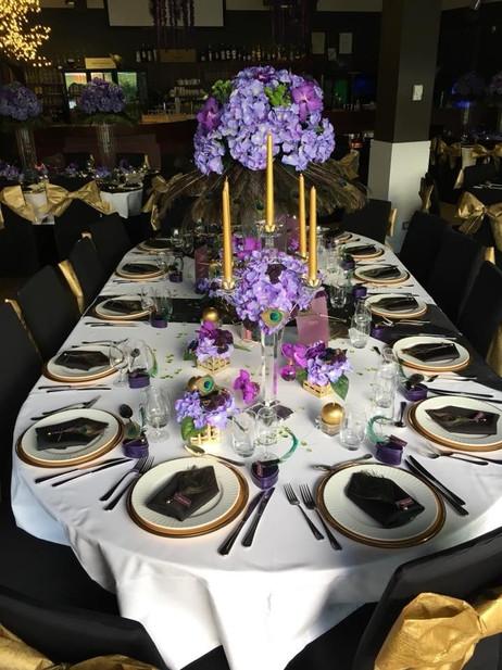 mise en ambiance table des mariés