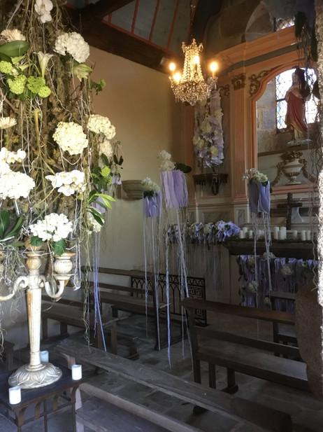candelabre fleuri