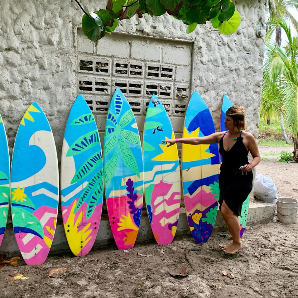 COSTENIO SOCIAL Paddle paddle charity project avec POSCA Guachaca - COLOMBIA
