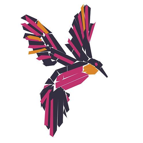 Sticker - Collection Jungle - Le colibri