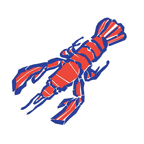 Sticker - Collection Mer - Le homard