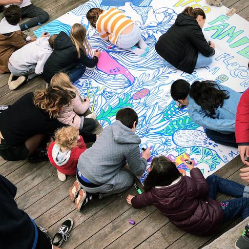 WATER FAMILY Atelier coloriage avec POSCA Biarritz - FRANCE