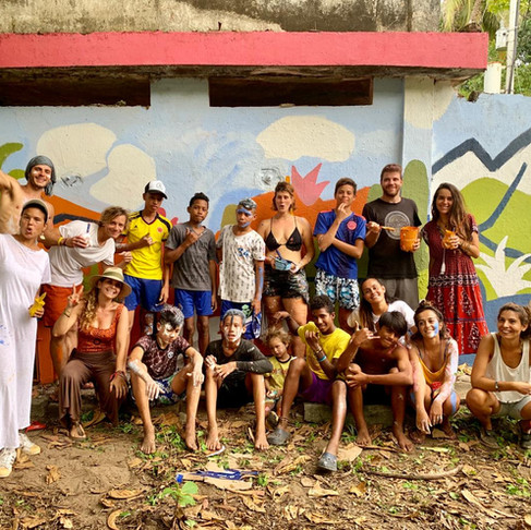 MURAL  COSTENIO SOCIAL Paddle paddle charity project  Costeno Beach - COLOMBIA