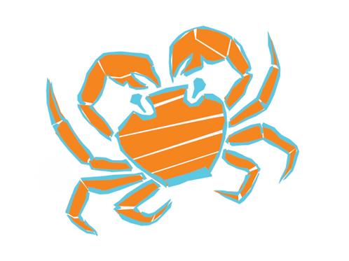 Sticker - Collection Mer - La crabe