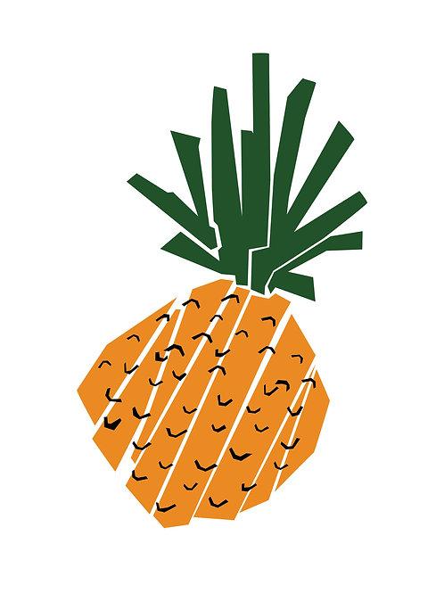 Sticker - Collection Salade de fruits - L'ananas