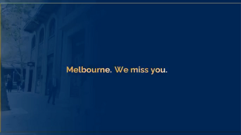 Melbourne. We Miss You.