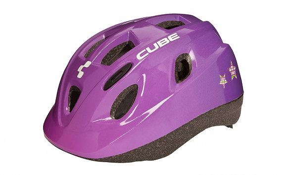 Casque fille violet Cube