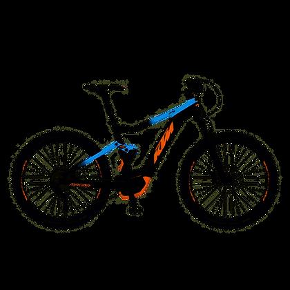 VTT KTM MACINA LYCAN 275 BLEU ORANGE 2019