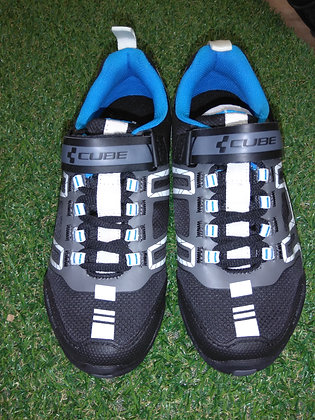 chaussure vtt ALL MOUNTAIN CUBE BLACK N WHITE N BLUE N GREY