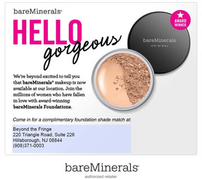 Bare Minerals at Beyond the Fringe