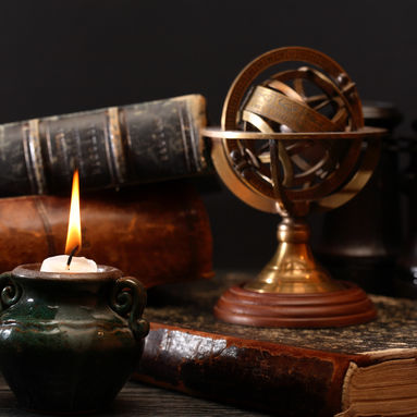Ancient astrology. Old astrology globe a